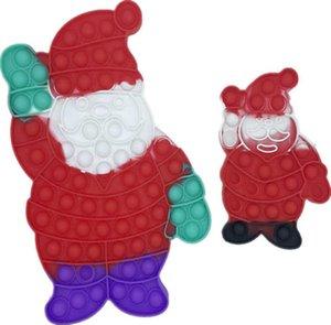 20cm 30cm Santa Claus Fidget Toy Press Bubble Poppers Children's Finger Pressure Bubble Christmas Series Rat Killing Pioneer Educational Toys G90797M