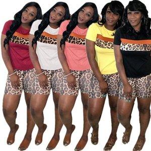 Piece Summer Outfits Leopard Two Piece Set Women 2021 Tracksuit Top+Biker Shorts Lounge Wear Matching Sets 2 HAOYUAN Plus Size