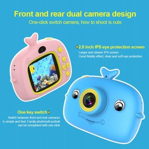 Children's 2000W Camera Cartoon Toy Dual Full HD Portable Digital 2 Inches IPS Screen Po Gift Cameras