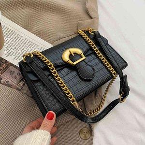 Sacs à bandoulière en cuir d'unité centrale de modèle pierre pour des femmes 2021 sacs à main et sacs à d'épaule de chaîne de mode