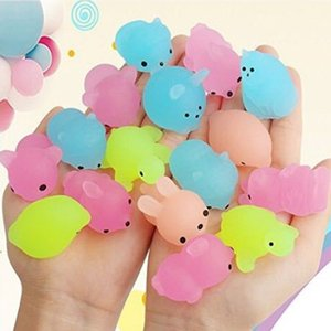 Squishy Buns Toys Slow Rising Animals Kids Glowing In The Dark Luminous Kneading Toy Gift Led Mini Flashing TPR Music Decompression H3132KP