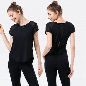 Yoga camisetas Verano Deportes de verano Yogas Tees Culturismo Camiones de las mujeres Gimnasio Casual Gimnasio Push Up TOPS de alta calidad Tops para interiores Entrenamiento al aire libre Tamaño Tamaño S-XL Calidad