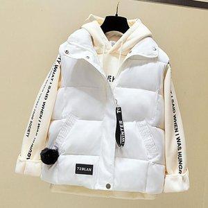 Cotton Women Autumn Winter Down Vest Jacket Zipper Big Pocket Waistcoat Stand Collar Vests