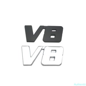 Car Styling Metal V8 Engine Badge Sticker Rear Tailgate Emblem Decal Accessories