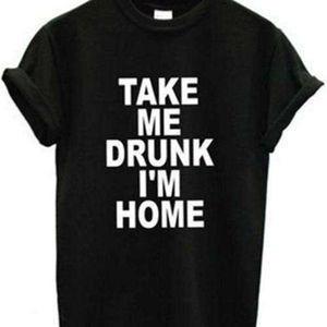 tee Tame dunk im home drunk Street trend lovers men's and women's short sleeve T-shirt 9062