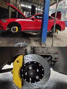KLAKLE Designer Brakes Kit 18Z 355*32MM Perforated Disc 6 Pistons Brake Caliper For Audi A3 8v Front Rims 18 Inch