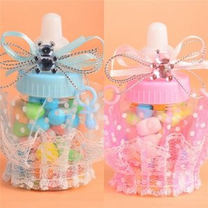 Baby Shower Gift Bottle Box Baptism Christening Brithday Party Favors Gift Favors Candy Box Bottle Boy Girl T9I001165