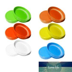 10 шт. Mason Jar Lids Переработанная колпачка для хранения с силиконовыми уплотнительными кольцами для большинства обычных рта 8 широкий рот Мейсонские банки