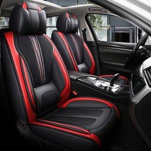Cubierta de asiento de accesorios para automóvil para Sedan SUV Durable Cuero de alta calidad Universal Cinco asientos Establece el cojín que incluye cubiertas delanteras y traseras Cubierta Cubierta Cubierta Diseño Gris AA31