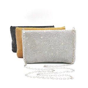 Hot rhinestone Bridal Bridal Party Crystal Clutch Bag Solid clutch Bag Women's soft casual cross body bag