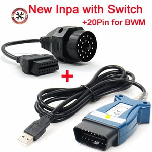 Strumenti diagnostici INPA EDIABAS K DCAN K + CAN per ISTA K + DCAN FTDI Chip PCB completo PCB OBD2 Strumento da 16pin Strumento giallo / nero Interruttore