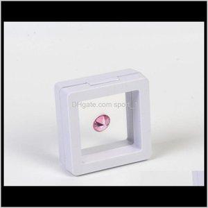 200 قطع أبيض أسود 5 * 5 سنتيمتر العائمة المعلقة عرض حالة العملات الأحجار الكراديات مجوهرات حامل حامل تخزين مربع oubks e9sag