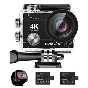 DragonTouch Vision 3 Action Camera 4K 16MP 170 Wide Angle WiFi Sports Cam Underwater Waterproof Camera Remote Control 210319