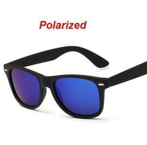 الأزياء النظارات الشمسية الرجال الاستقطاب القيادة مرايا مرايا طلاء النقاط الإطار الأسود النظارات الذكور نظارات الشمس uv400 W3