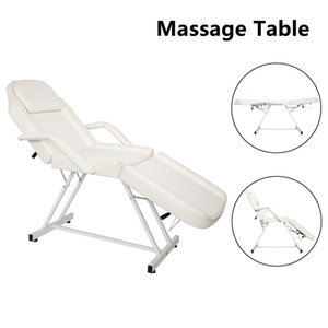 Facial Table Bed Chair, Salon Massage Therapy Tattoo Furniture, Leather Cover Folding Dual-purpose Portable Equipment by sea HHE9553