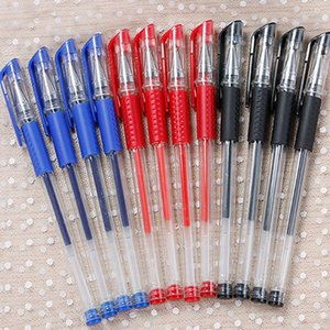 0.5mm Blue Black Red Ink Gel Pen Bullet Needle School Writing Stationery Signing Pencil Office Supplies 0285