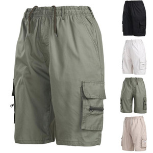 Erkek Şort 2021 Yaz Erkek Askeri Kargo Taktik Erkekler Pamuk Gevşek İş Rahat Kısa Pantolon Artı Boyutu İpli