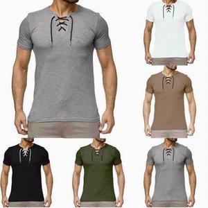 T-shirts hommes t-shirts été T-shirt à manches courtes européennes Europe et amerciance chemises de style Slim Couleur Solid Couleur Daily Shirt Casual Vêtements