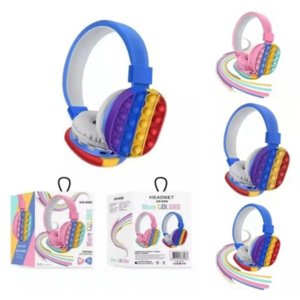 Fidget Toys Headphones Party Favor Rainbow Bluetooth Stereo Headset Head-mounted Simple and Cute Decompression Toy