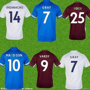 الرجال Fofana Soccer Jersey 20 21 Leicester قميص كرة القدم 2021 Vardy Ayoze Camiseta Ndidi Maddison Castagne Mailleot De Foot Offe