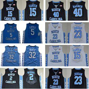 Ncaa jersey de basquete 5 nassir pouco carter 32 Luke Maye North Carolina Carolina Tar Heels Michael College Barnes Vince Unc Blue Black Jerseys Shorts