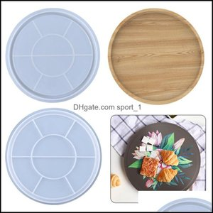 Molds Jewelry Tools & Equipment Jewelrysile Fruit Resin Casting Mod Flexible Round Large Coaster Epoxy Sile Mold For Making Serving Tray Dro