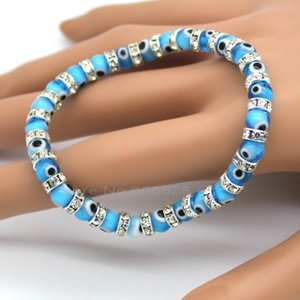 link Hot. Evil Charm bracelets, assembled from Eye Glass Claws and 6mm Diamond, 6 Color Wholesale