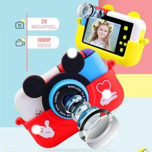 Children Mini Digital Camera Mic 2.4 Inch IPS Screen 1080P HD Video Selfie SLR Toy Birthday Gift Cameras