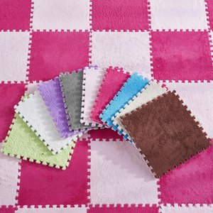 Carpets Airldianer Foldable For Living Room Plush Soft Climbing Cappet Rug Split Joint Bath Anti-skid Small Rugs 30X30CM