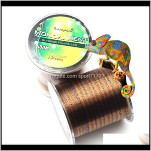 Sports & Outdoors Drop Delivery 2021 500M Multicolor Nylon Lines Invisible Spot Speckle Monofilament Fly Thread Line Carp Fishing Aessories S