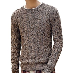 New Autumn Winter Fashion Mens Sweaters Warm Thick Slim Fit Men Pullover Cotton Trend Knitted Sweater Men