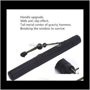 Three-Section Telescopic Stick, Mountaineering Outdoor Car Self-Defense Broken Window Self-Help Pc Material Can Pass Security Check Tz R25Kn