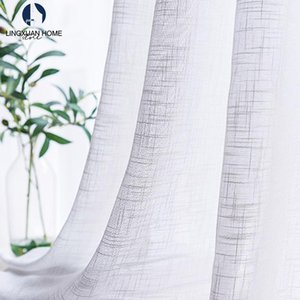 Curtain & Drapes Japan Style Tulle Window For Living Room White Linen Sheer Curtains Bedroom Thick Voile Kitchen