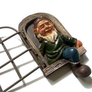 Garden Decorations Gnome Dwarf resin jewelry cartoon Trinket handicraft white beard old man 1426 V2