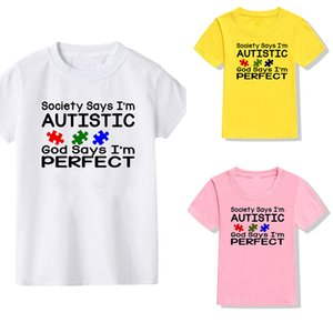Autism Awareness Shirt Society Says Im Autistic T Shirt Autism TShirt Puzzle Piece Autism Gifts for Youth Kids
