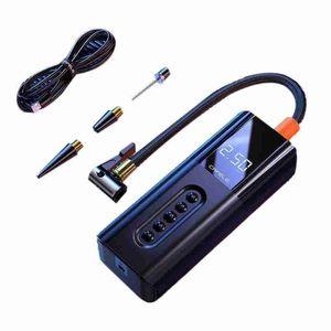 Inflatable Pump 12V Portable Air Compressor Tire Car With LCD Digital Display Black Color