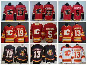 2021 Calgary Flames Hockey Jerseys Mens Johnny Gaudreau Jersey Matthew Tkachuk Andrew Mangiapane Elias Lindholm Sean Monahan Derek Ryan Mark Giordano Stitched
