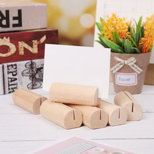Card holders memo clip holder wood desktop organizers photo note rack stand bracket message clips bar table wedding party decor