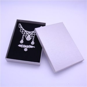 Hix4 custom made necklace earring packing bag bag universal gift large packaging boxes jewelry suit jewelry boxes