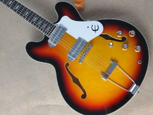 shipping new empty heart jazz sunset color VS genuine steel P90 pickups Electric Guitar