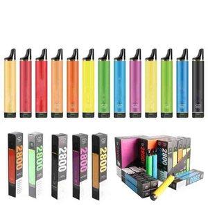 일회용 전자 담배 퍼프 플렉스 바 2800 퍼프 포드 장치 vape 키트 1500mAh 배터리 10ml 사전 채워진 5 % 키트 13colors