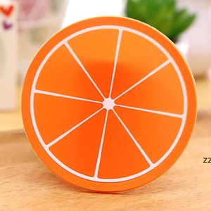 Fruit Silicone Coaster Mats Pattern Colorful Round Cup Cushion Holder Thick Drink Tableware Coasters Mug HWF8650