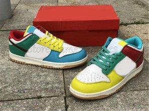 Dunks Low Se бесплатно 99 мульти белые желтые зеленые темные красочные спортивные туфли Chunky Dunky Men Женские кроссовки SB кроссовки