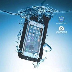 Используется для дайвинга и водонепроницаемого водонепроницаемого раковины PVC Protection Универсальная сумка для мобильных телефонов с компасом