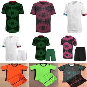 2021 Top Mexico White Soccer Jerseys Национальная команда Chicharito Lozano Guardado Carlos Vela Raul Blanco Ramirez Мужчины + Kids Kit Футбольные рубашки