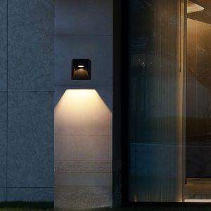 LED Wall Light Outdoor Waterproof IP65 Garden Porch Lights & Indoor Bedroom Bedside Hallway Decorate Aluminum Lamp Lamps