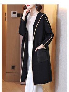 Women's Trench Coats Miyake Folds Early Autumn Windbreaker Female Short Black Temperament Hooded Large Size Cardigan Jacket Women