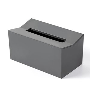 Tissue Boxes & Napkins Kitchen Box Cover Napkin Holder For Paper Towels Dispenser Wall Mounted Container Wipes Gray
