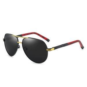 Dropshipping 최고 품질의 편광 렌즈 파일럿 패션 선글라스 남성과 여성 브랜드 디자이너 빈티지 스포츠 태양 안경 상자 A00568
