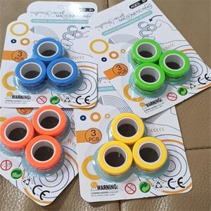 Anti-Stress Finger Magnetic Rings For Autism ADHD Anxiety Relief Focus Kids Decompression Fingertip Toys Magic Ring Props Tools